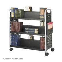 Safco Scoot™ Double Sided 6 Shelf Book Cart