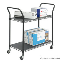 Safco Wire Utility Cart 2 Shelf