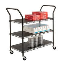 Safco Wire Utility Cart 3 Shelf