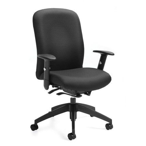 TRUFORM-High back weight sensing Synchro-tilter chair with arms 5450-8SCBK-JN02
