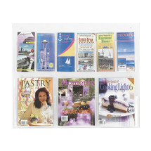 Safco Clear2c™  3 Magazine and 6 Pamphlet Display