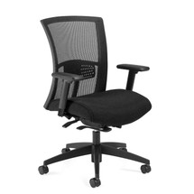 VION-Mesh Medium Back Weight Sensing Synchro - Tilter Chair 6322-8ASBK-UR22
