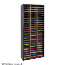 Safco Value Sorter Literature Organizer, 72 Compartment