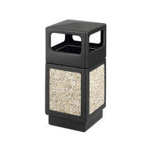 Safco Canmeleon™ Aggregate Panel, Side Open, 38 Gallon