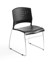 Boss Stack Chair With Chrome Frame - SHIPS 1/BOX B1400-BK-1