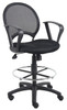 Boss Mesh Drafting Stool W/ Loop Arms B16217