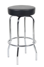 "Boss 29"" Chrome/Black Stool B229-BK"