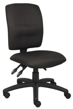 Boss Multi-Function Fabric Task Chair  Without Arms B3035-BK