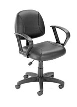 Boss Black Posture Chair W/ Loop Arms B307