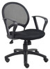 Boss Mesh Chair With Loop Arms B6217