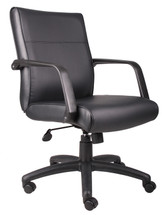Boss Mid Back Executive Chair In Leatherplus B686