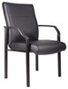 Boss Mid Back Guest Chair In Leatherplus B689