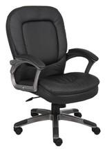 Boss Executive Pillow Top Mid Back Chair B7106
