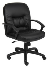 Boss Mid Back Leatherplus Chair B7306
