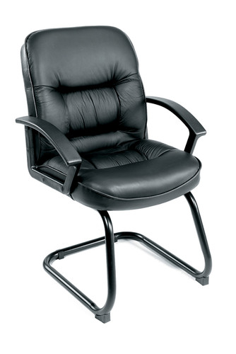 Boss Mid Back Leatherplus Guest Chair B7309
