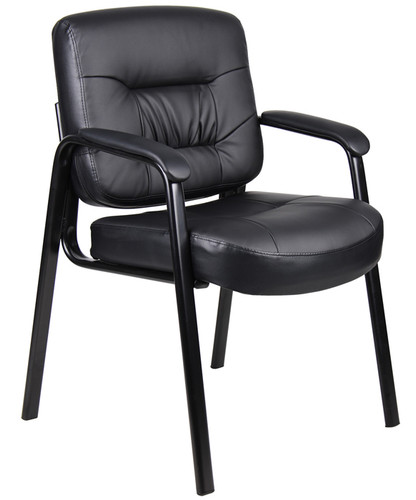 Boss Executive Mid Back Leatherplus Guest Chair B7509