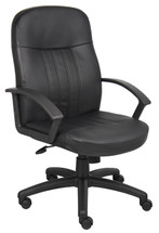 Boss Executive Leather Budget Chair B8106