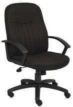 Boss Mid Back Fabric Managers Chair In Black B8306-BK