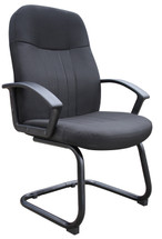 Boss Mid Back Fabric Guest Chair In Black B8309-BK