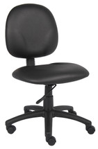 Boss Diamond Task Chair In Black Caressoft Without Arms B9090-CS
