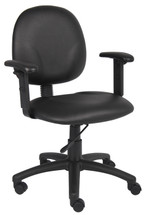 Boss Diamond Task Chair In Black Caressoft W/ Adjustable Arms B9091-CS