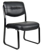 Boss Leather Sled Base Side Chair B9539
