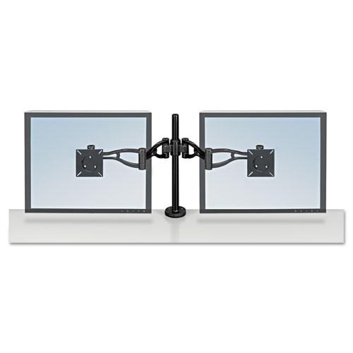 Fellowes Desk-Mount Dual Monitor Arm, Black