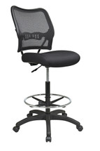 Office Star Deluxe AirGrid® Back Drafting Chair with Mesh Seat and Adjustable Footring 13-37N20D