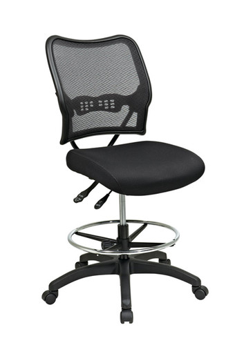 Office Star Deluxe Ergonomic AirGrid® Back Drafting Chair with Mesh Seat 13-37N30D