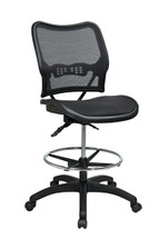 Office Star Deluxe Ergonomic AirGrid® Seat and Back Drafting Chair 13-77N30D