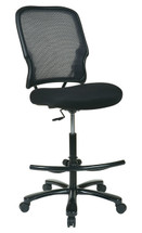 Office Star Big Man's AirGrid® Back with Mesh Seat Drafting Chair (No Arms) 15-37A720D