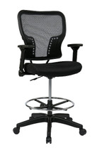 Office Star Deluxe Air Grid® Back and Padded Mesh Seat Chair with 4-Way Adjustable Flip Arms 213-37N2F3D