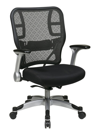 Office Star Deluxe R2 SpaceGrid® Back Chair With Mesh Seat and Self Adjusting Control 215-3R2C62R5