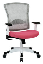 Office Star Managers Mesh Back Chair OSP-317W-W1C1F2W
