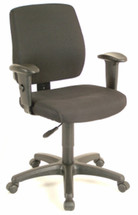 Office Star Task Chair with Ratchet Back Height Adjustment with Height and Width Adjustable Arms 33107-30