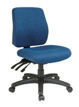 Office Star Mid Back Dual Function Ergonomic Chair with Ratchet Back Height Adjustment without Arms 33320-30