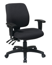 Office Star Mid Back Dual Function Ergonomic Chair with Ratchet Back Height Adjustment with Arms 33327-30