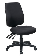 Office Star High Back Dual Function Ergonomic Chair with Ratchet Back Height Adjustment without Arms 33340-30