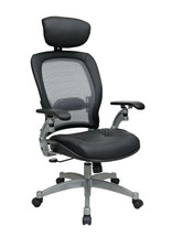 Office Star AirGrid® Back Chair with Adjustable Headrest and Cantilever Arms 36806