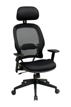 Office Star AirGrid® Back and Mesh Seat Managers Chair with Adjustable Headrest 55403