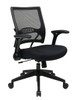 Office Star AirGrid® Back and Mesh Seat Managers Chair with Flip Arms 67-37N1G5