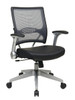 Office Star AirGrid® Back and Eco Leather Seat Managers Chair with Flip Arms 67-E36N61R5
