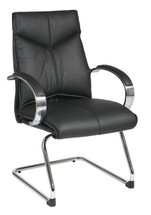 Office Star Deluxe Mid Back Visitors Leather Chair Model 8205