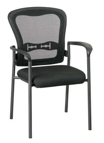 Office Star Visitors Chair with Arms and ProGrid® Back