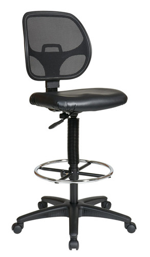 """Office Star Deluxe Mesh Back Drafting Chair with 20"""" Diameter Foot ring Model DC2990V"""