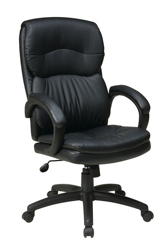 Office Star High Back Eco Leather Executive Chair with Padded Arms EC9230-EC3
