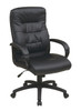 Office Star High Back Faux Leather Executive Chair with Padded Arms FL7480-U6