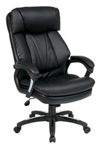 Office Star Oversized Faux Leather Executive Chair with Padded Loop Arms FL9097-U6