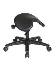 Office Star Pneumatic Drafting Chair with Backless stool and Saddle Seat.