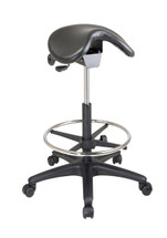 Office Star Backless Stool with Saddle Seat